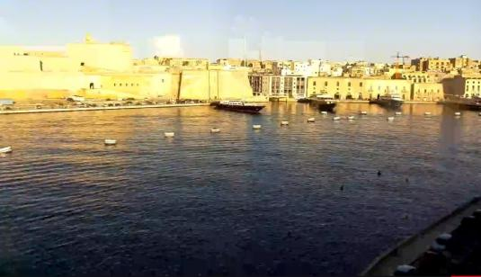 Senglea Fortified City Waterfront Weather Web Cam South East Malta
