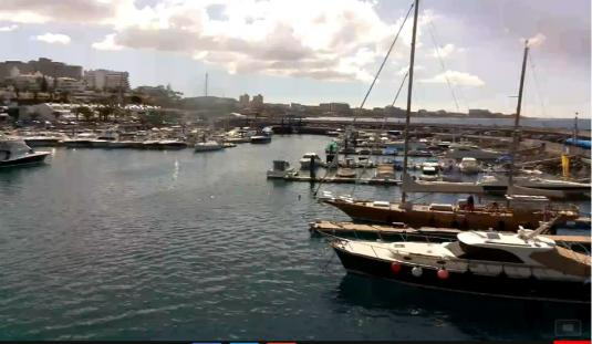 Club Nautico Puerto Colon Marina Weather Web Cam Costa Adeje Beach Resort South West Tenerife