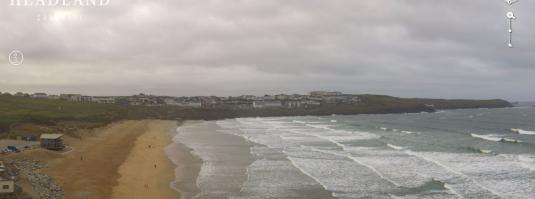 Newquay Beach Surfing Panorama Weather Web Cam Newquay Cornwall