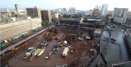BBC Central Square Construction Web Cam Cardiff City Centre Wales