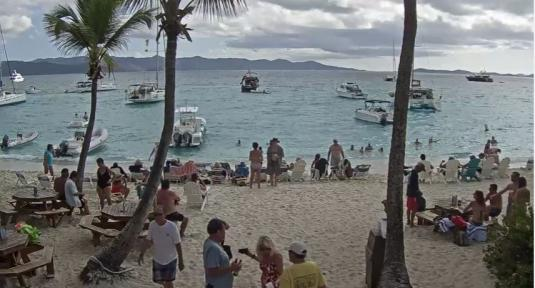 Soggy Dollar Bar Live People Watching Beach Weather Cam Jost Van Dyke Island BVI