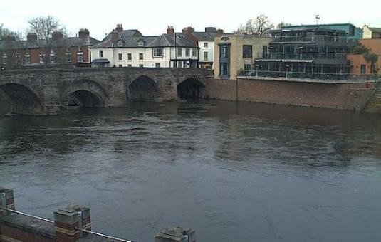 Hereford Live River Wye Flood Alert Weather Web Cam Herefordshire England