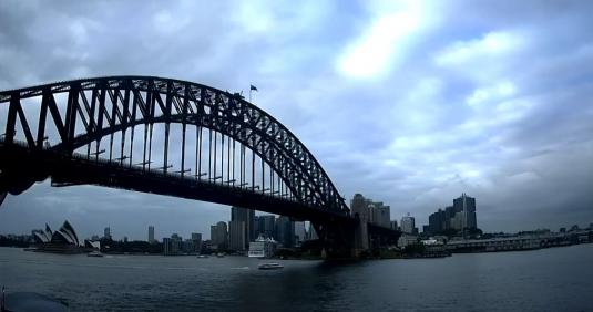 Sydney Harbour Bridge Weather Cam City of Sydney NSW Australia