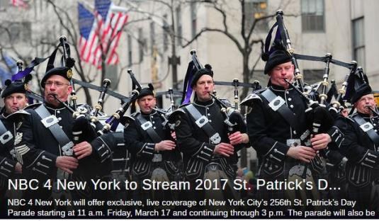 New York City Fifth Avenue Live St Paddy Day Parade Broadcast Cam NYC