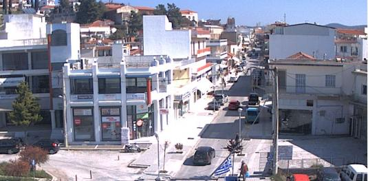 Island of Evoia Live Aliveri Town Centre Traffic Weather Web Cam Greece